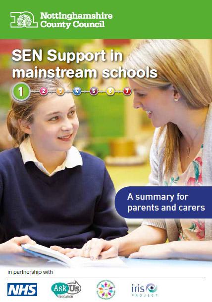 send_support_leaflet_parent_carer_jan_16 image